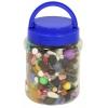 Acrylic Treasure Bead Assortment Jar